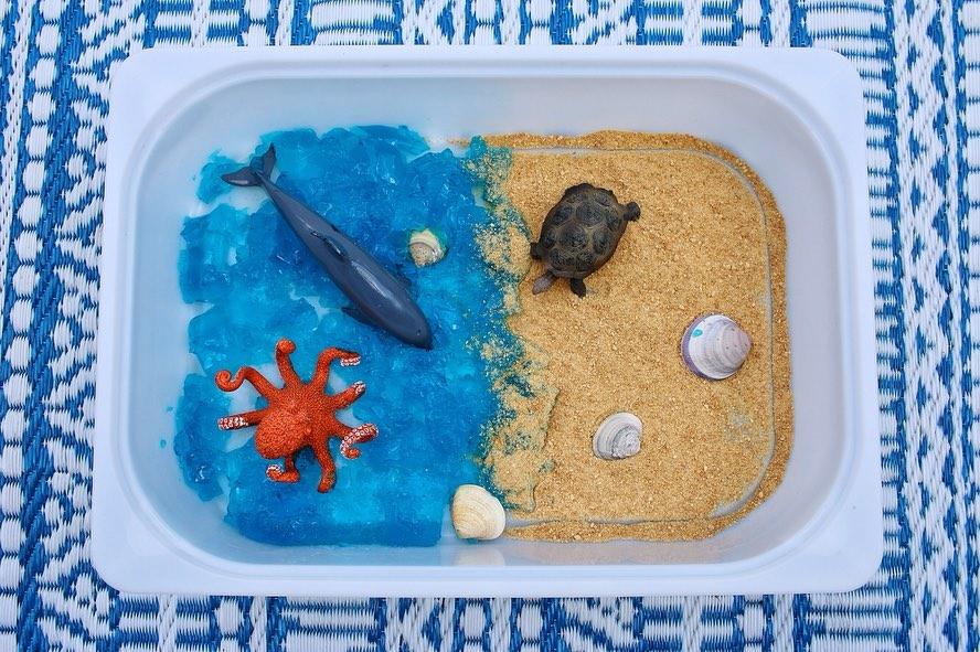 Aquatic Themed Sensory Bin