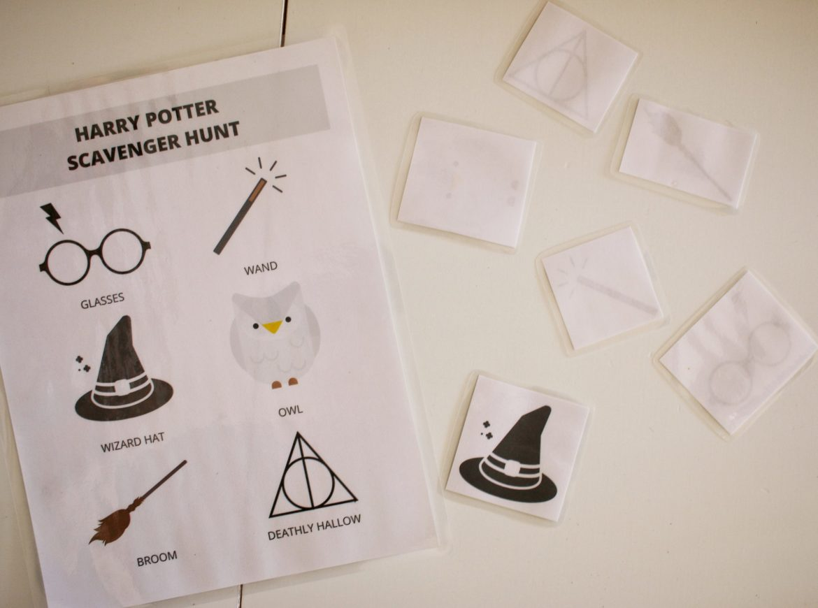 WIZARDING WORLD SCAVENGER HUNT & MEMORY GAME PRINTABLE