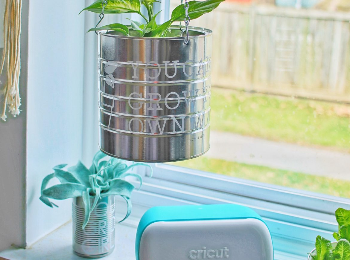 DIY UPCYCLED PLANTER USING THE CRICUT JOY™